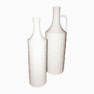 Jarrones Mid-Century de porcelana de Karl Scheidt para Hutschenreuther. Juego de 2