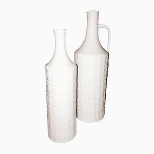 Mid-Century Porcelain Vases by Karl Scheidt for Hutschenreuther, Set of 2