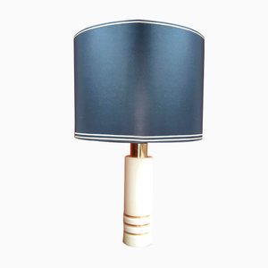 Lámpara de mesa italiana de madera de arce, años 70