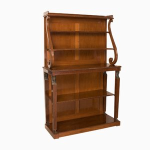 Antique Regency French Open Bookcase