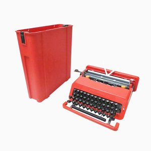 Mid-Century Valentine Typewriter by Ettore Sottsass & Perry King for Olivetti