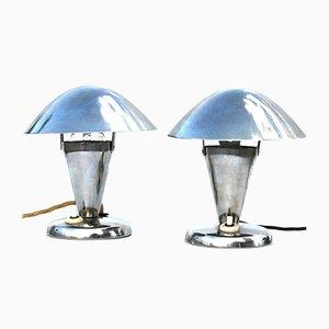 Mushroom Bedside Lamps, 1950s, Set of 2