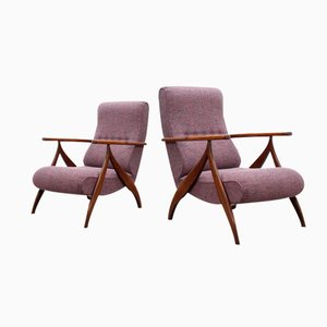 Mid-Century Italian Recliner Armchairs by Paolo Buffa, Set of 2
