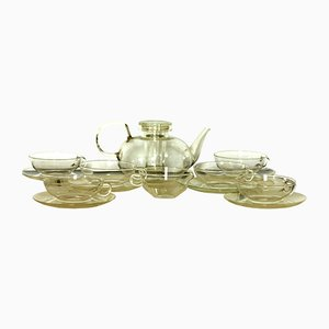Tee Set von Wilhelm Wagenfeld für Jenaer Glaswerke, 1950er