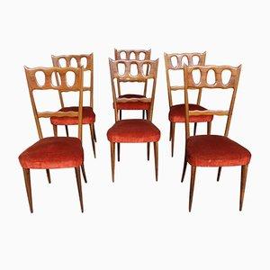 Sillas de comedor de Paolo Buffa, años 50. Juego de 6