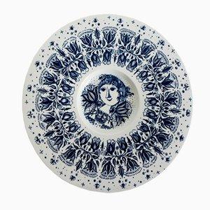Assiette en Porcelaine par Bjorn Wiinblad pour Nymolle, Danemark, 1960