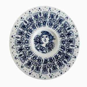 Plato danés de porcelana de Bjorn Wiinblad para Nymolle, 1960