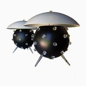 Lámparas de mesa de Angelo Lelli para Arredoluce, años 50. Juego de 2