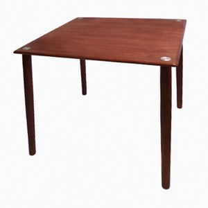 Mid-Century Danish Teak Cube Side Table from Georg Petersens Møbelfabrik