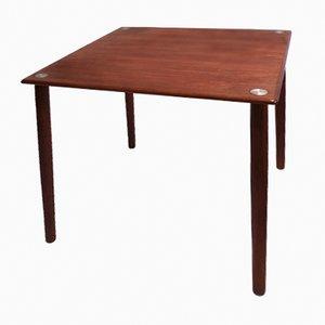 Table d'Appoint Mid-Century Cube en Teck de Georg Petersens Møbelfabrik, Danemark