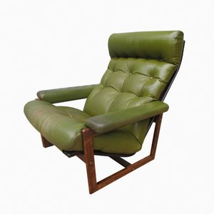 Wengé & Leather Easy Chair from Spectrum, 1960s