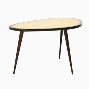 Abgerundeter Ahorn & Buchenholz Tisch, 1950er