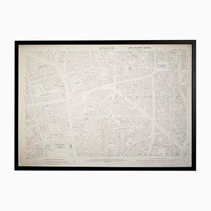 Mapa vintage del barrio de Hoxton en Londres del Ordenance Survey