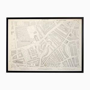 Mapa vintage del barrio de Brompton en Londres del Ordenance Survey