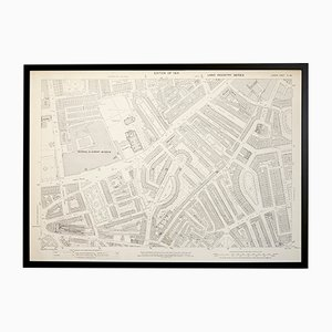 Vintage London Brompton Generalstabskarte