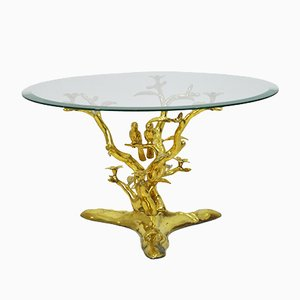 Brass Birds Coffee Table, 1970s