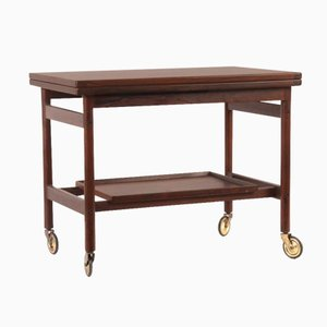 Mid-Century Danish Rosewood Bar Trolley Table by Kurt Ostervig for Jason Møbler