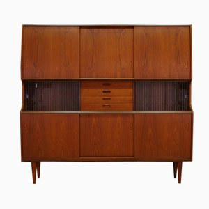 Danish Teak Credenza by Poul M. Jessen for Viby J, 1960s