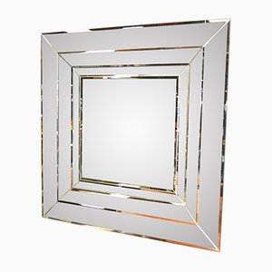 Faceted Belgian Mirror, 1970s