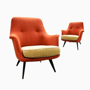 Mid-Century Vintage Lounge Chairs, Set of 2