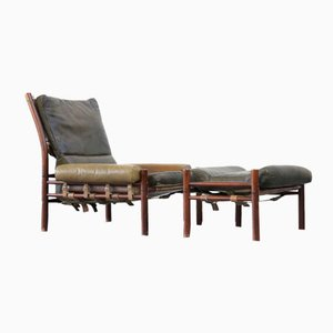 Mid-Century Lounge Chair & Ottoman from Arne Norell