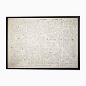 Mapa vintage del barrio de Shoreditch en Londres del Ordenance Survey