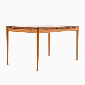 Teak & Beech Coffee Table, 1950s