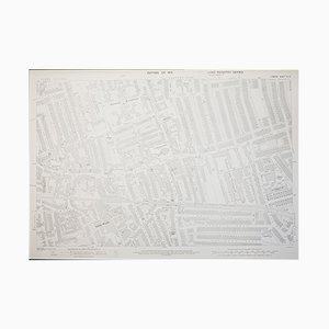 Carte London Ordnance Survey de Wimbledon en 1933, 1950s
