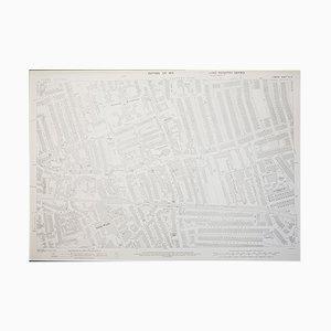 Mapa de Wimbledon en 1933 del London Ordnance Survey, años 50