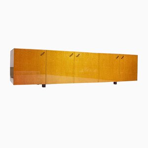 Birdseye Maple Sideboard by Giovanni Offredi for Saporiti, 1970s
