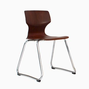 Vintage Pagwood Stacking Chair by Adam Stegner for Flötotto Germany, 1960s