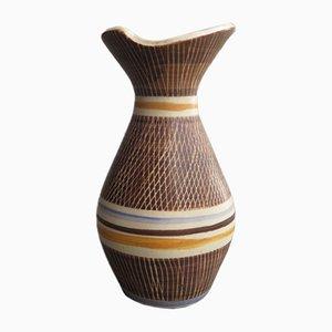 Organic German Ceramic Vase, 1960s