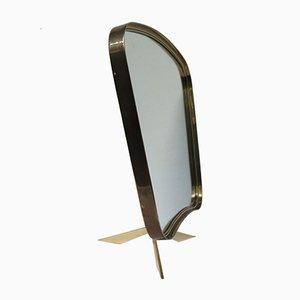 Espejo de mesa alemán con trípode de Münchner Zierspiegel, años 50