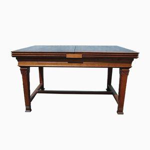 Vintage Art Nouveau Extending Oak Dining Table