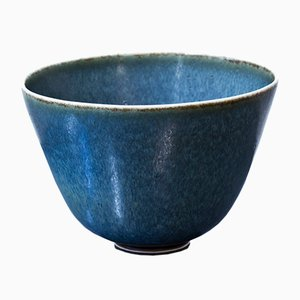 Blue Ceramic Bowl by Gunnar Nylund for Rörstrand, 1950s