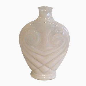 Glass Vase with a Facon Overlay, 1960s