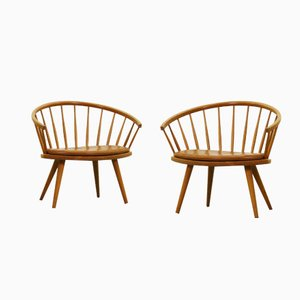 Armchairs by Yngve Ekström for Stolab Sweden, 1950s, Set of 2