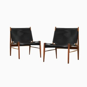 Lounge Chairs by Franz Xaver Lutz for WK Möbel, 1958, Set of 2