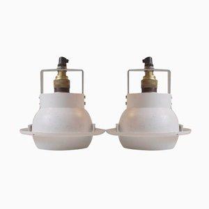 Lampes Spots Rondes Blanches par Louis Poulsen Denmark, Danemark, Set de 2