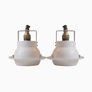 White Spherical Spot Lights by Louis Poulsen Denmark, Set of 2