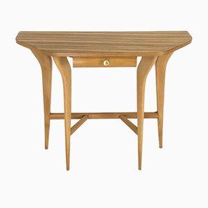 Consola de arce y madera de zebrano, años 50
