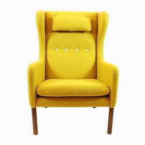 Yellow Scandinavian Mid-Century Armchair
