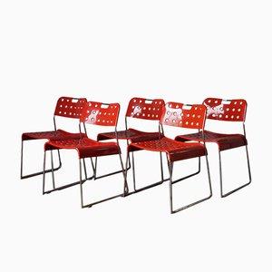 Sedie impilabili OMK di Rodney Kinsman per Bieffeplast, 1971, set di 5