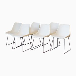 White Dining Chairs by Robin Day for Hille, 1970s, Set of 6
