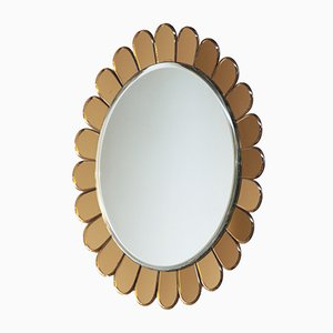 Italian Wall Mirror from Cristal Art, 1950s