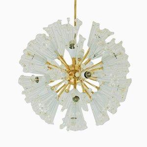 Lámpara de araña Snowflake de Emil Stejnar para Robert Nikoll, años 50