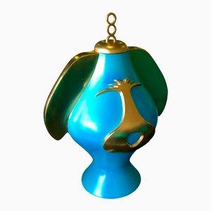Himmelblaue Puppies Vase von Anna Gili