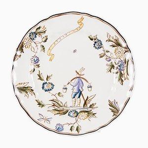 Assiette en Céramique par Gio Ponti pour San Cristoforo, 1920s