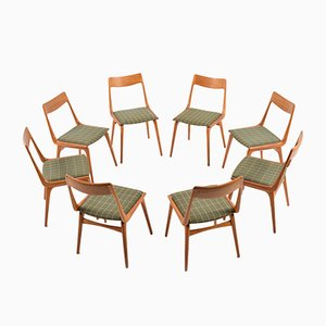 Boomerang Teak Chairs by Alfred Christensen for Slagelse Møbelværk, 1960, Set of 8
