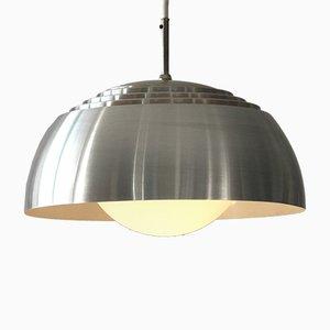 Lampada a sospensione con paralume in alluminio, anni '60